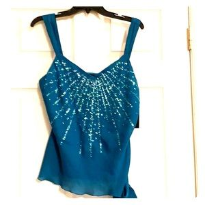 AGB Size Large Teal Blouse
